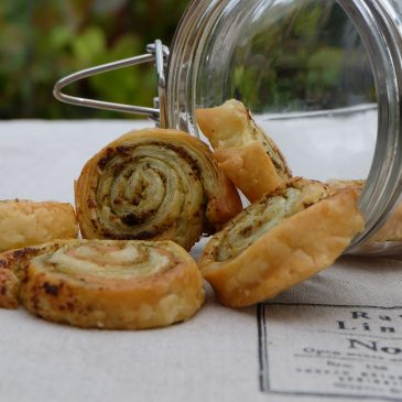 Lachs-Pesto Röllchen