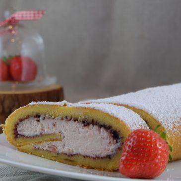 Schnelle Fruchtjoghurt-Biskuit-Rolle