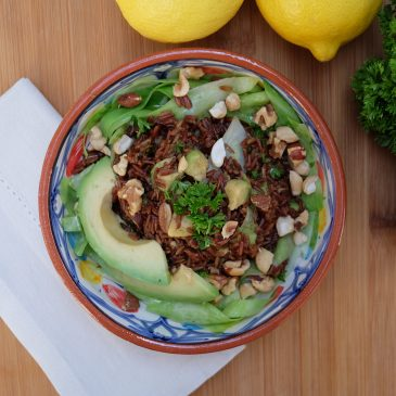 Lauwarmer Olympia-Reis-Kohl-Salat
