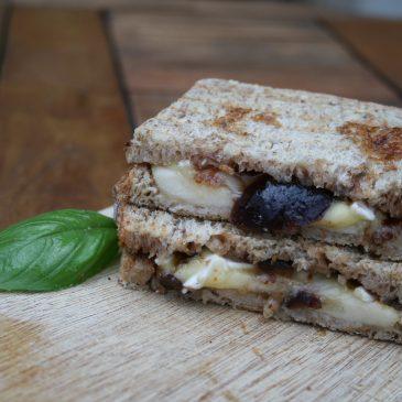 Schnelles Birnen-Ziegenkäse Sandwich