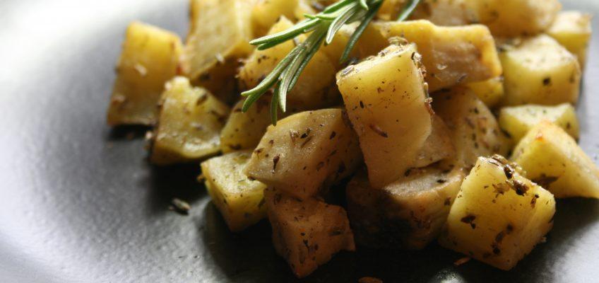 Knusprige Süßkartoffeln mit Lavendel