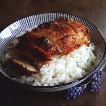Lavender & Honey glazed chicken