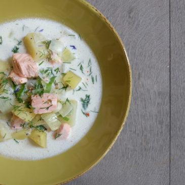 Schwedische Kartoffel-Lachs-Suppe